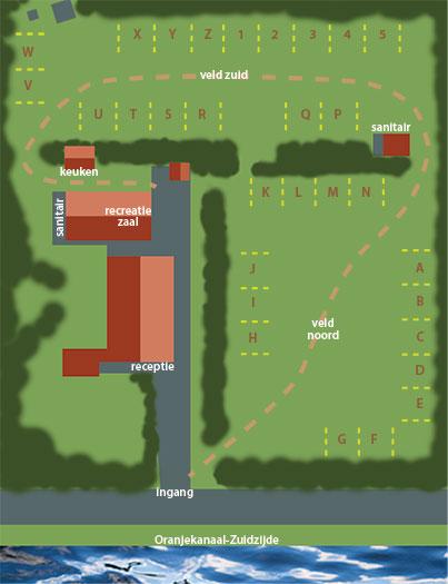 Ruime campeerplaatsen op 2 grote grasvelden.